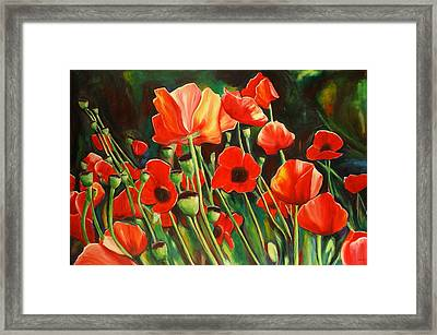 June Wearing Red Framed Print by Sheila Diemert