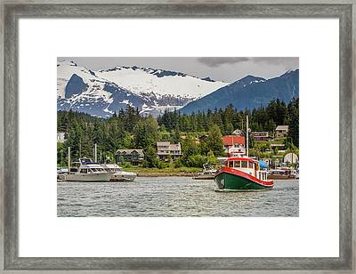 Juneau, Alaska, Usa Framed Print by Tom Norring