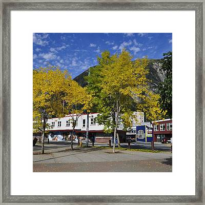Juneau In The Fall Framed Print by Cathy Mahnke
