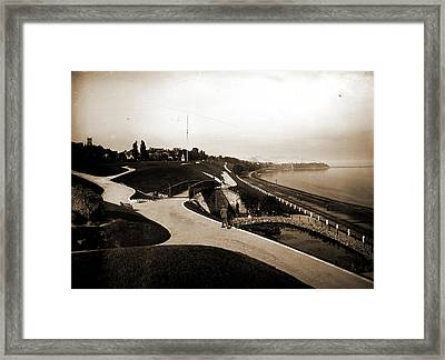 Juneau Park And Lake Michigan, Milwaukee, Parks, Lakes & Framed Print by Litz Collection