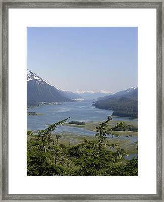 Juneau's Scenic Port Framed Print by Cindy Croal