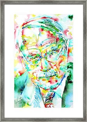 Jung - Watercolor Portrait.2 Framed Print