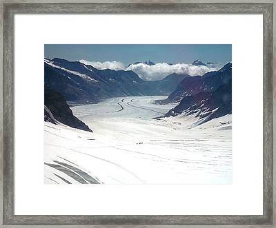 Jungfrau Glacier Framed Print