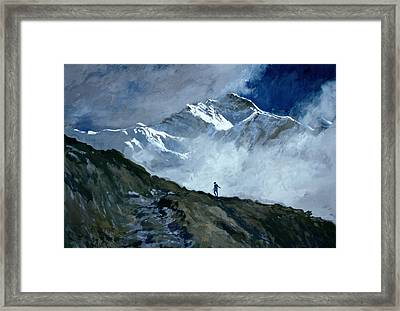 Jungfrau Framed Print by John Cooke