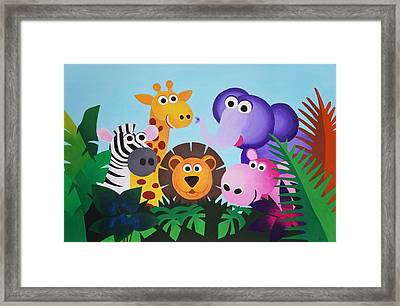 Jungle Framed Print by Bav Patel