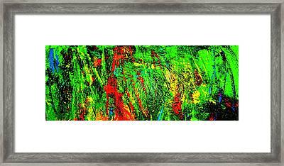 Jungle Beat Framed Print by Monique Wegmueller
