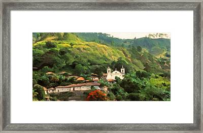 Jungle Church Honduras Framed Print by Spyder Webb