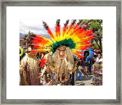 Jungle Dancer Framed Print by Lew Davis