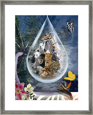 Jungle Drop Framed Print
