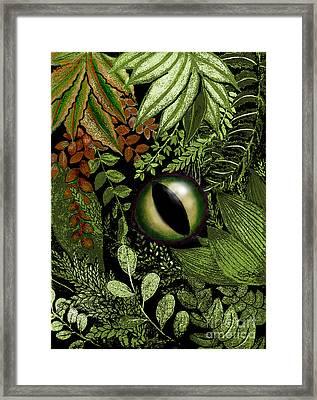 Jungle Eye Framed Print