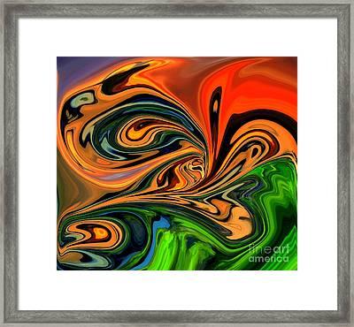 Jungle Eyes Framed Print by Chris Butler