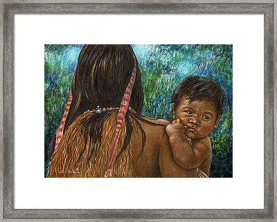 Jungle Family Framed Print by Sandra LaFaut