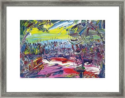 Jungle Farmers Framed Print by Bob Usoroh