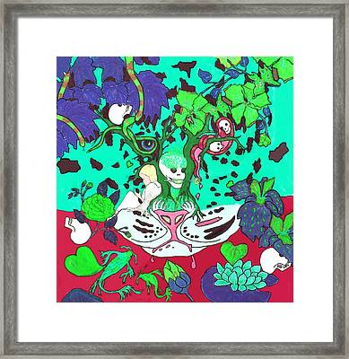 Framed Print featuring the digital art Jungle Fever 4 by Stephanie Grant