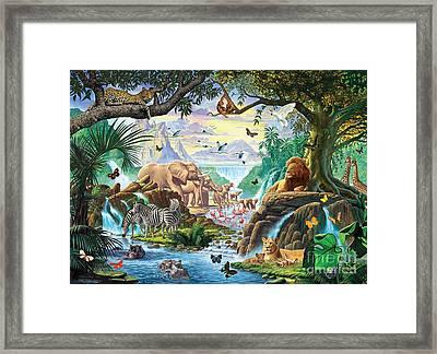 Jungle Five Framed Print