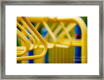 Jungle Gym At Playground Shallow Dof Framed Print by Amy Cicconi