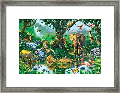 Jungle Harmony Framed Print by Chris Heitt