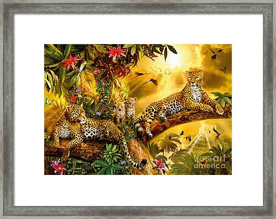 Jungle Jaguars Framed Print by Jan Patrik Krasny