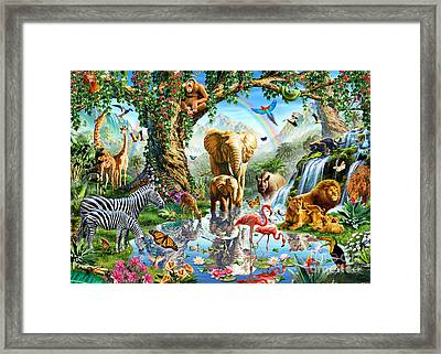 Jungle Lake Framed Print by Adrian Chesterman