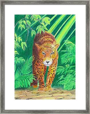 Jungle Leopard Framed Print