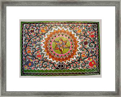 Jungle Life-madhubani Paintings Framed Print