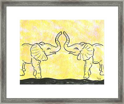 Jungle Love Framed Print by Susie WEBER
