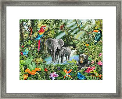 Jungle Framed Print by Mark Gregory