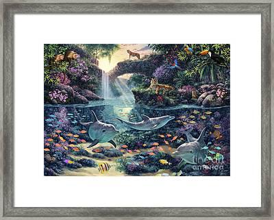 Jungle Paradise Framed Print by Steve Read