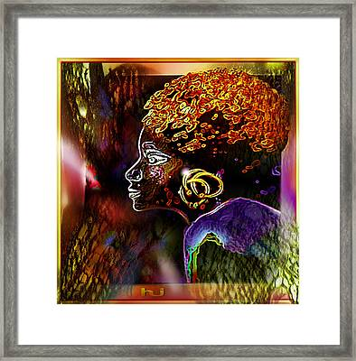 African   Princess Framed Print by Hartmut Jager