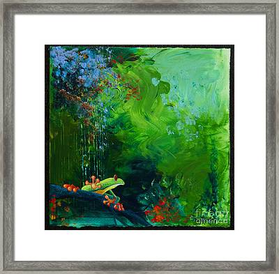 Jungle Rains I Framed Print by Tracy L Teeter