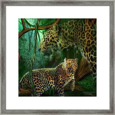 Jungle Spirit - Leopard Framed Print