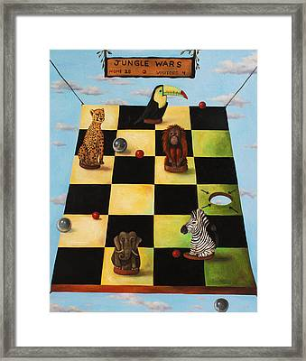 Jungle Wars Edit 2 Framed Print by Leah Saulnier The Painting Maniac
