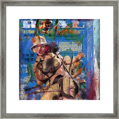 Jungle Women Framed Print by Russell Pierce