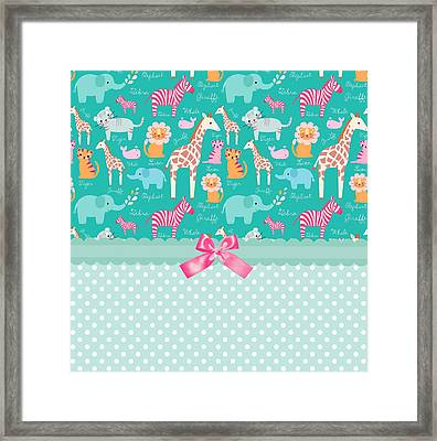 Jungle Zoo Party Framed Print