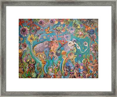 Framed Print featuring the painting Jungledelphia by Douglas Fromm