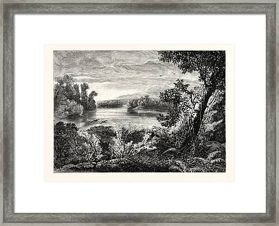 Juniata River, Near Lewistown Framed Print