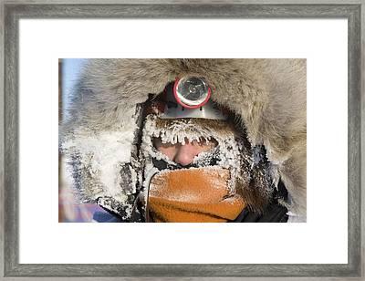 Junior Iditarod Musher Ava Lindner Framed Print