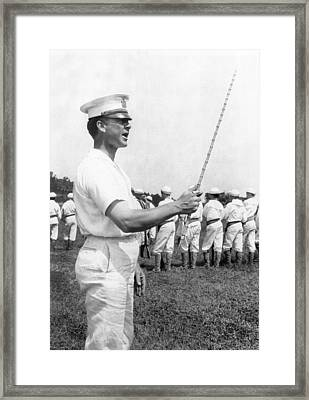 Junior Naval Reserve Training Framed Print by Underwood Archives