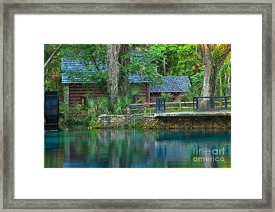 Juniper Springs Mill House Reflections Framed Print by Adam Jewell