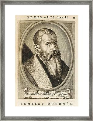 Junius Rembert Dodoens Alias Dodonaeus Framed Print