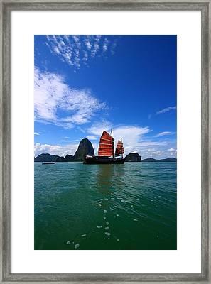 Junk Boat Framed Print