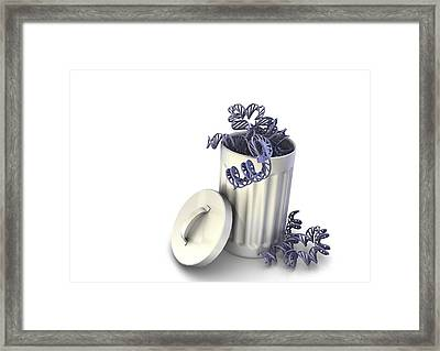 Junk Dna, Conceptual Image Framed Print by Science Photo Library