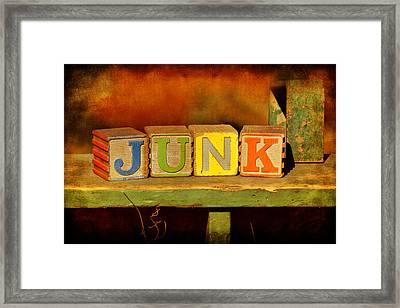 Junk Framed Print by Nikolyn McDonald