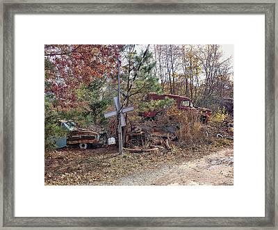 Junk Road Framed Print