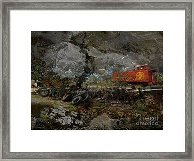 Junk Yard Storm Framed Print by Robert Ball