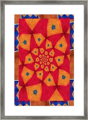 Junkanoo Pants Pasteup With Kente Trim Framed Print by Linda Cousins-Newton