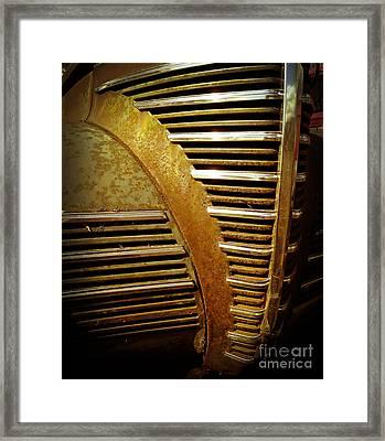 Junker Car Grill Framed Print by Edward Fielding