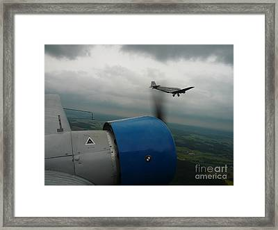 Junkers Ju-52 Flight Under Dark Clouds Framed Print