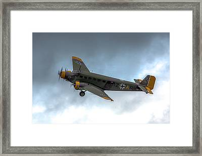 Junkers Ju-52 In Flight Framed Print