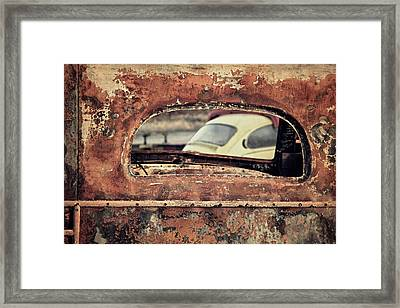 Junkyard Window Framed Print by Odd Jeppesen